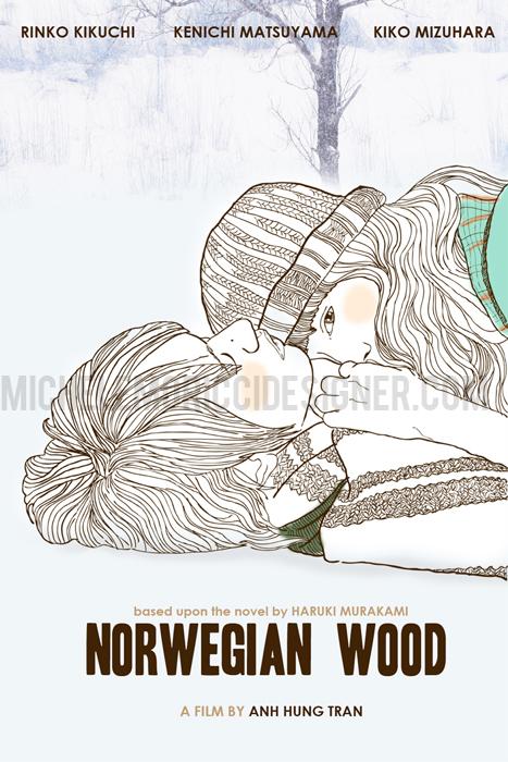 Poster Norwegian Wood by HARUKI MURAKAMI